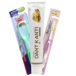 Patanjali-Advance-Oral-Care-Pack-Dant-Kanti-Advance-100gm-Tongue-cleaner-Sensitive-toothbrush