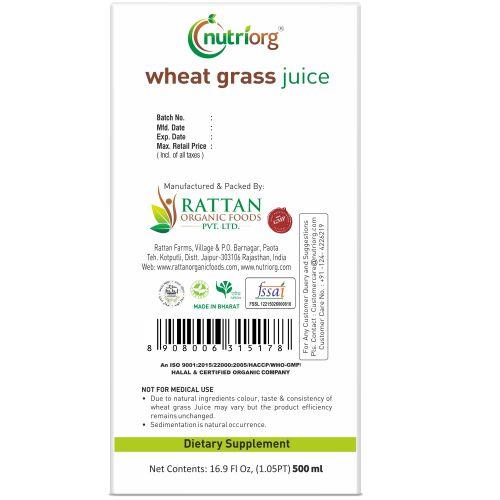 Wheatgrassjuice500ml_back
