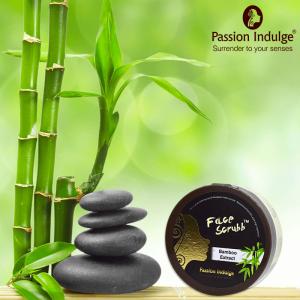 Bamboo extract face scrub
